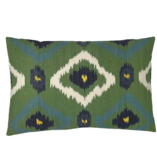 Multicolor luxury Ikat cushions