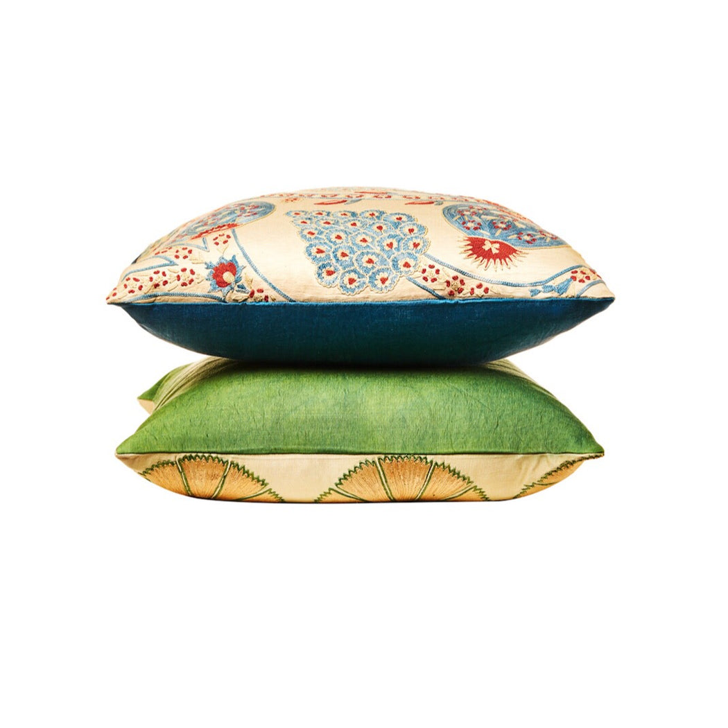 Suzani Soho Embroidered Heritage Style Cushion - Heritage Geneve