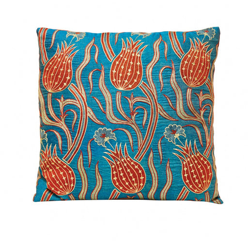 Red Tulip Design Suzani Blue Marine  Hertage Collection