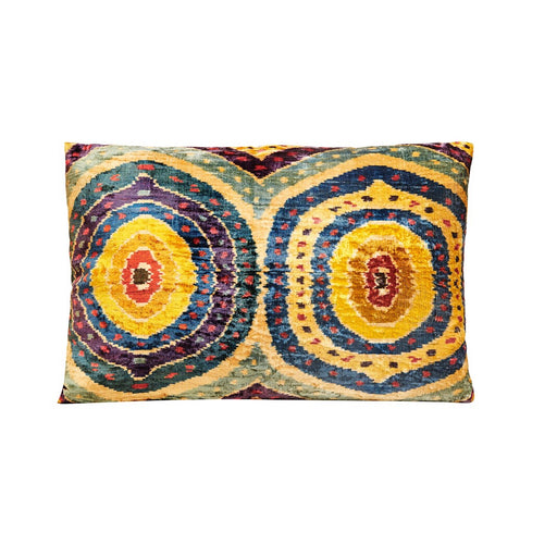 Floral Silk / Ikat Heritage Style Multicolour Cushion