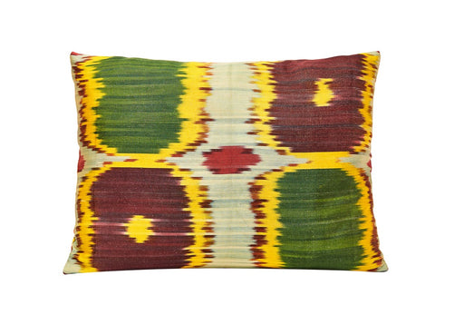 Primrose Handwoven Silk Ikat Cushion