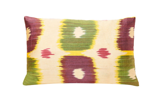 Canterbury Bells Silk Ikat Handcrafted Heritage Style Cushion