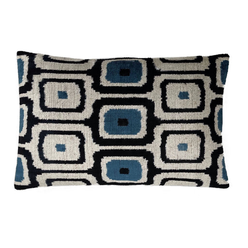 Velvet rectangular silk cotton cushion
