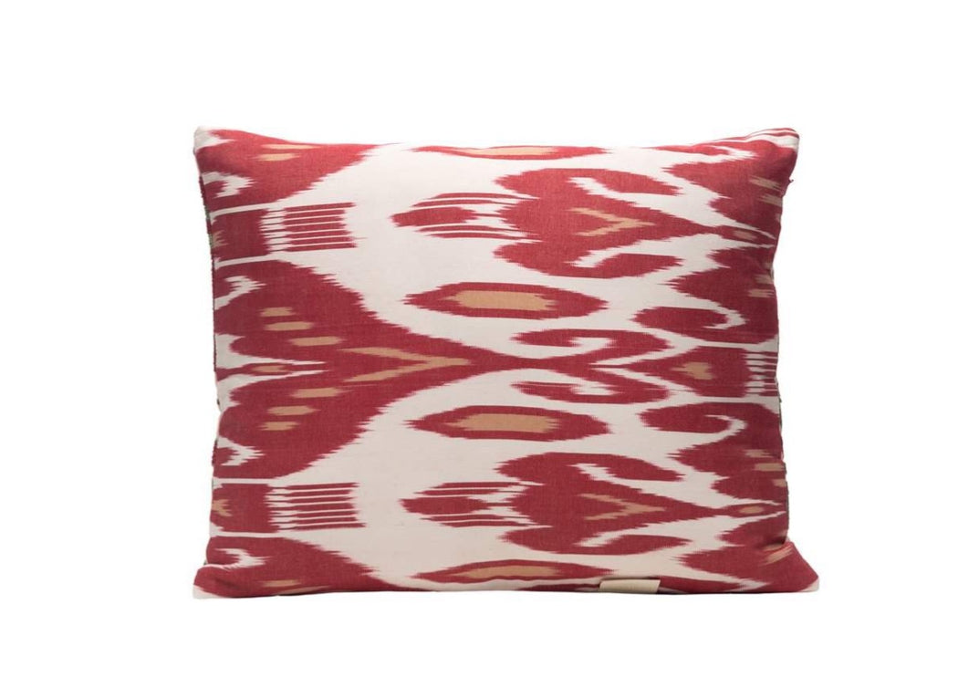 red ikat cushion luxury homes