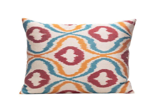 Citrus Orange Ikat Cushion