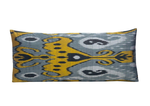 black yellow silk ikat