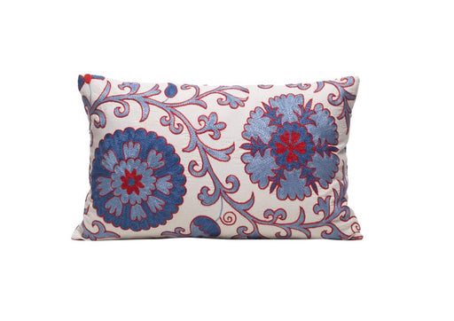 blue luxury suzani cushion