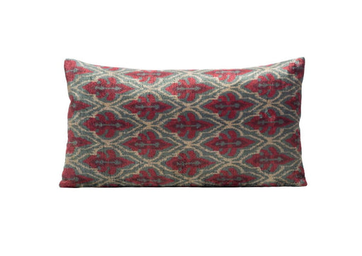 Elderflower Velvet Cushion Double Sided Ikat