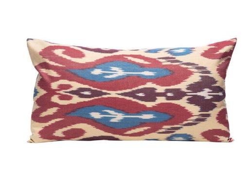 warm ikat cushion