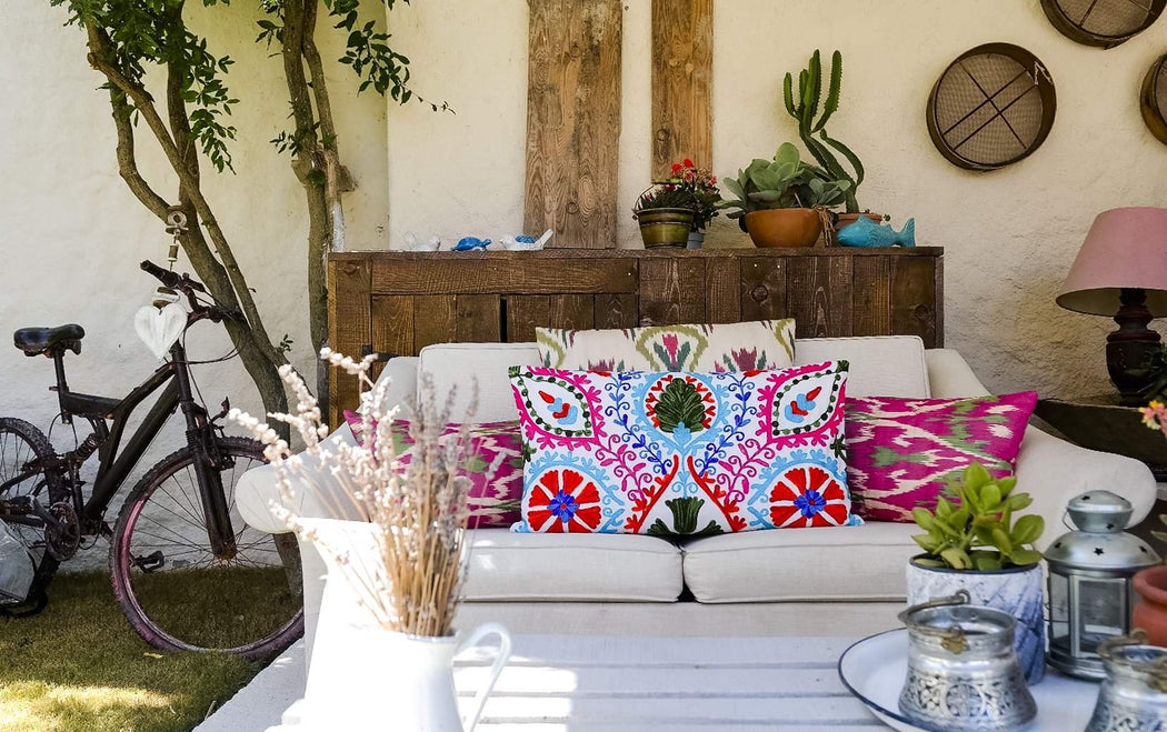 summer home accessory ikat cushions