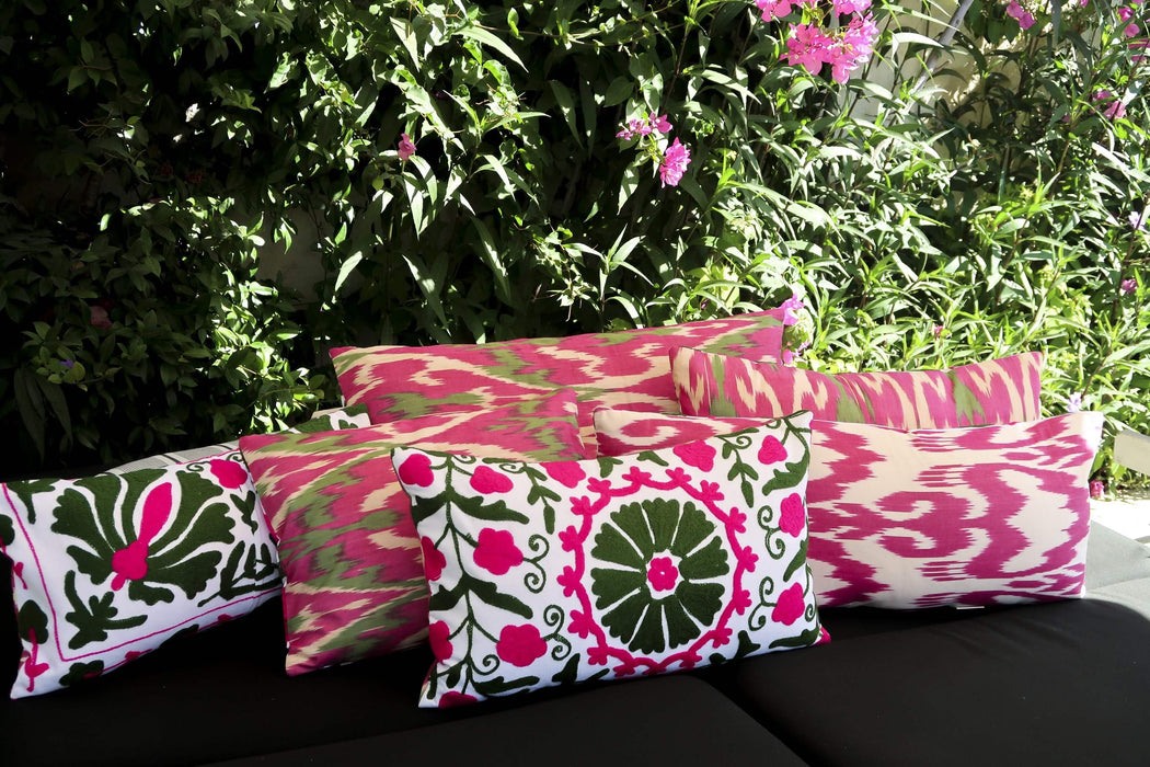 pink green styled cushion