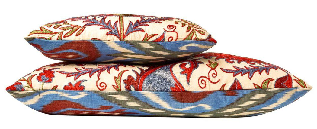 Hagia Sophia Istanbul Suzani Cushion Double Sided With Ikat - Heritage Geneve
