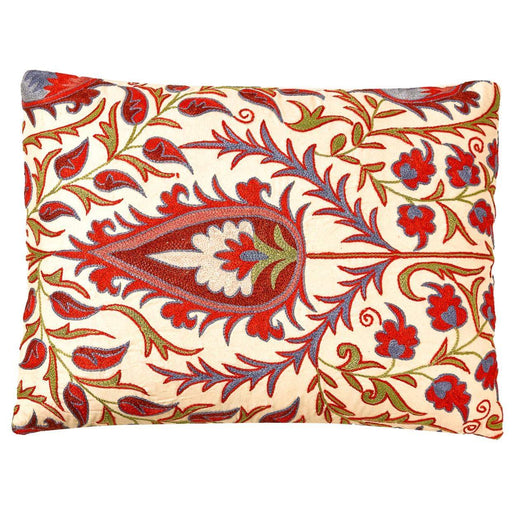 Hagia Sophia Sultanahmet Suzani Cushion Double Sided With Ikat - Heritage Geneve