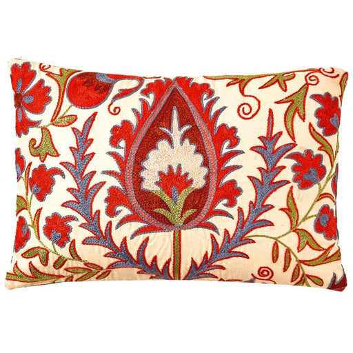 Hagia Sophia Wonder Suzani Cushion Double Sided With Ikat - Heritage Geneve