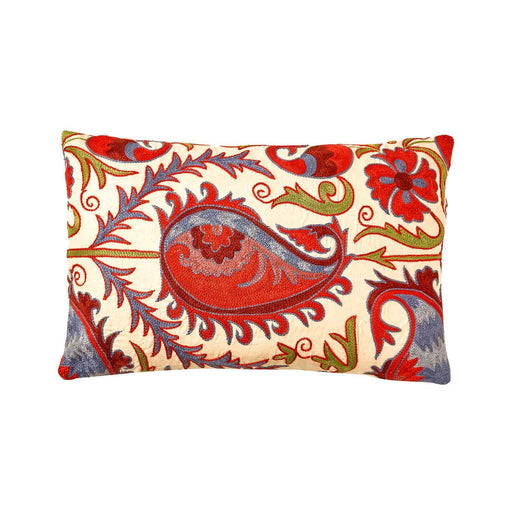 Hagia Sophia Tulip Suzani Cushion Double Sided Ikat - Heritage Geneve