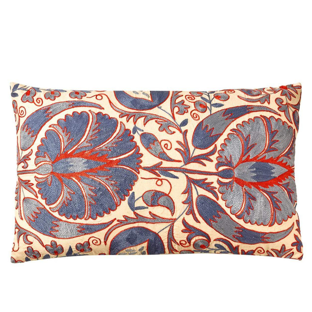 Hanging Gardens Of Babylon Suzani Ikat Double Sided Heritage Design Cushion - Heritage Geneve