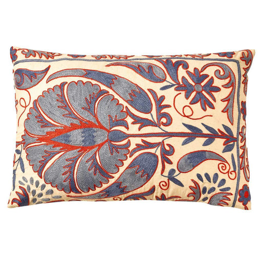 Babylon Cypress Suzani Cushion Double Sided With Ikat - Heritage Geneve