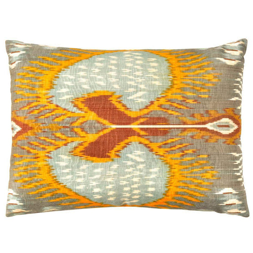 Artemis Sea Double Sided Ikat Cushion - Heritage Geneve