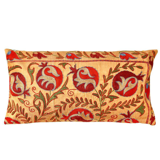 Taj Mahal Agra Suzani Cushion Double Sided With Ikat - Heritage Geneve