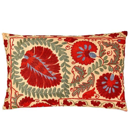 Colosseum Piazza Suzani Cushion Double Sided With Ikat - Heritage Geneve