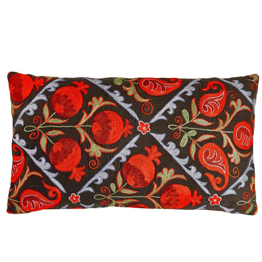 Halicarnassus Bodrum Suzani Cushion Double Sided With Ikat - Heritage Geneve