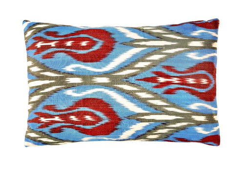 Artemis Navy Double Sided Ikat Cushion - Heritage Geneve
