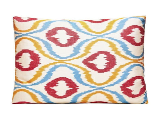Red Dots Handwoven Silk Ikat Cushion - Heritage Geneve