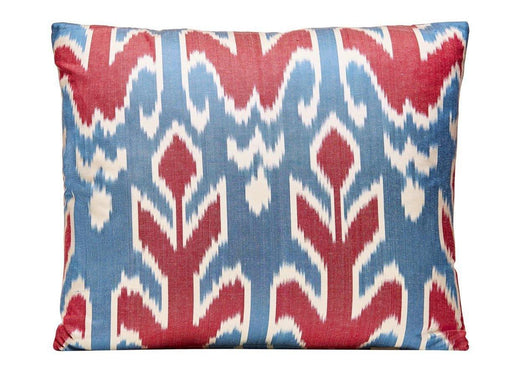 Blue Skies Handwoven Silk Ikat Cushion - Heritage Geneve