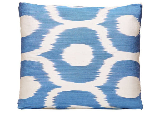 Lake District Handwoven Silk Ikat Cushion - Heritage Geneve