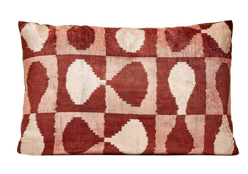 Brown Patchwork Silk-Velvet - Heritage Geneve