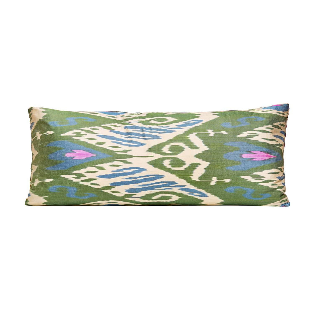 Sky Garden Long Suzani Silk Cushion - Heritage Geneve
