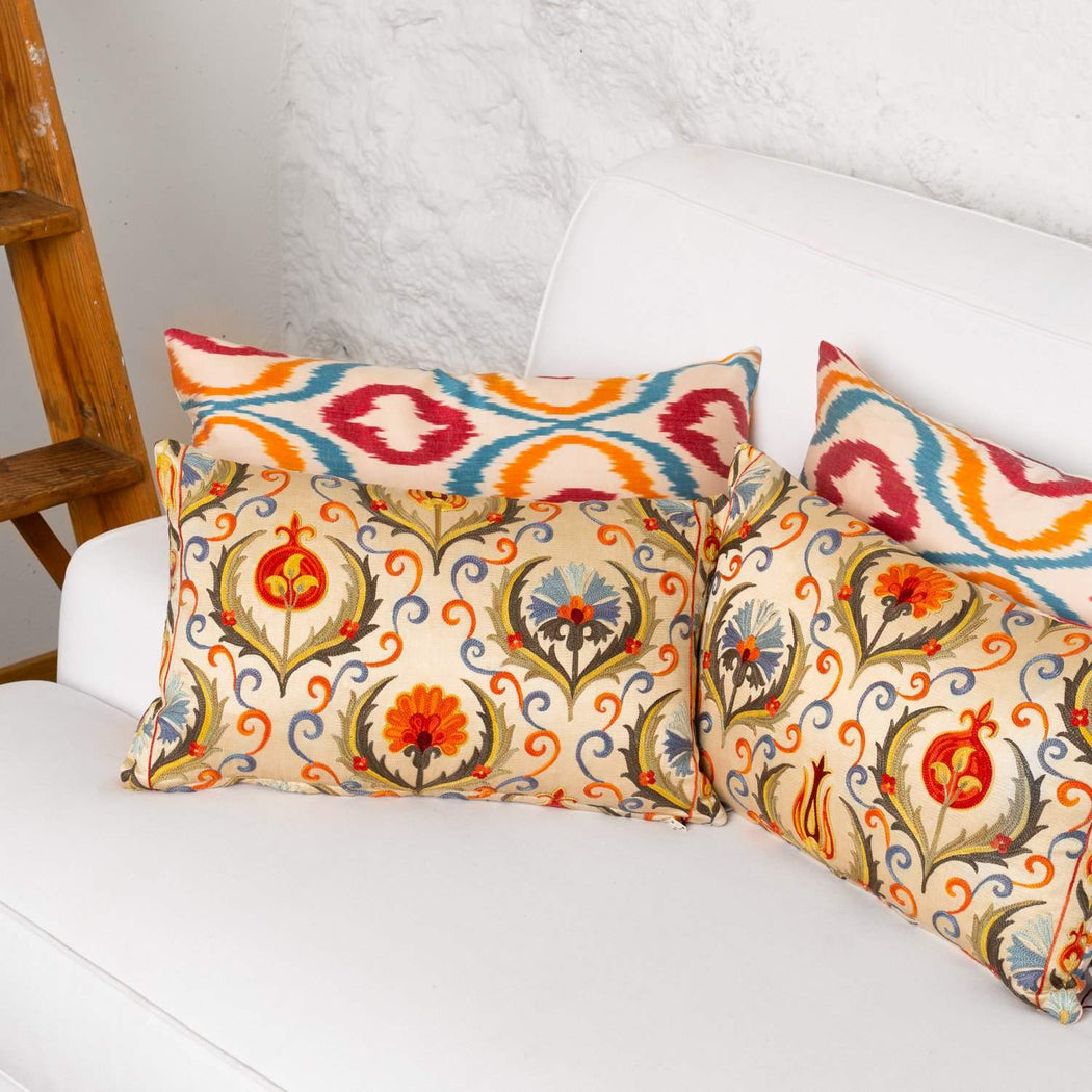 Paddington Garden Dreamy Silk Suzani Cushion - Heritage Geneve