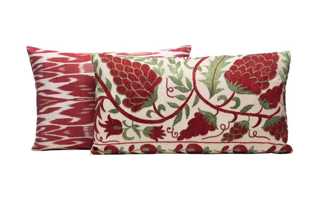 double sided red cushions
