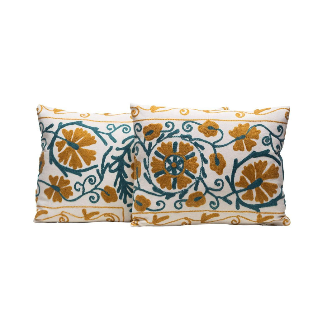 hand embroidered luxury cushions