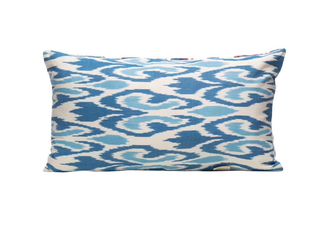Edelweiss Rocks Silk Suzani Cushion Double Sided Ikat