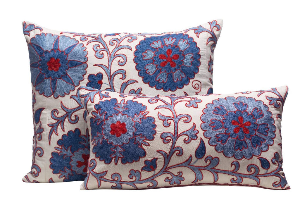cushion styling blue