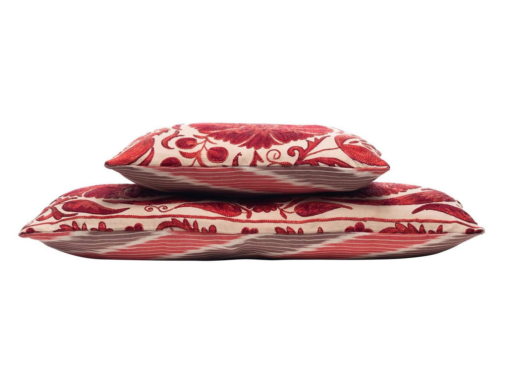 long red double sided cushions