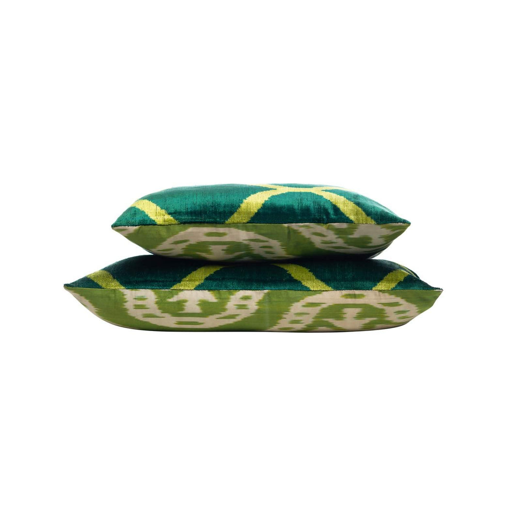 Thyme Herbs Velvet Cushion Double Sided Ikat