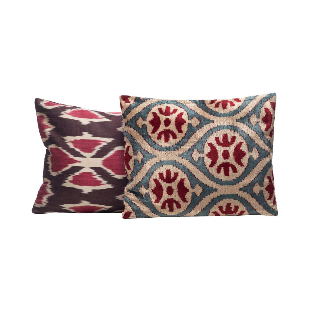 Melissa Plant Velvet Cushion Double Sided Ikat