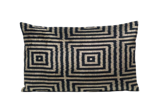Jasmine Velvet Cushion Double Sided Ikat