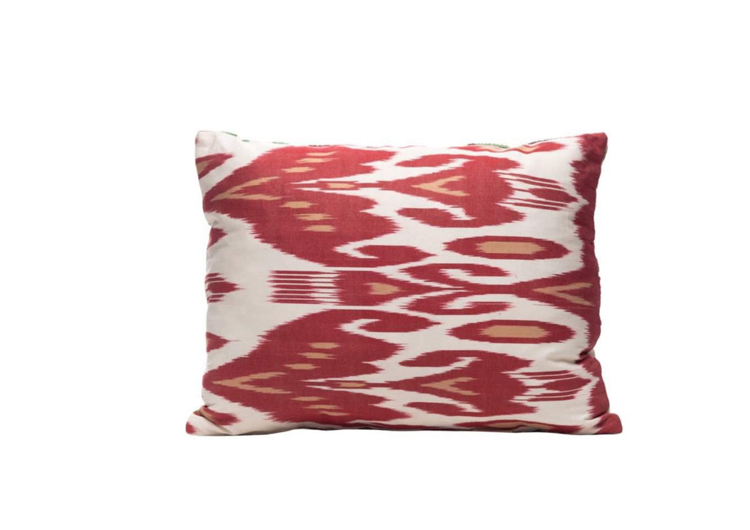 RED IKAT CUSHION