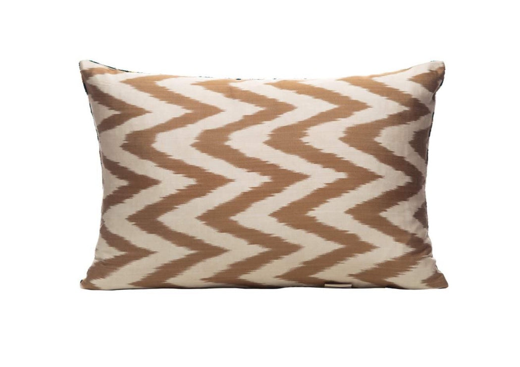 Maquis Velvet Cushion Double Sided Ikat