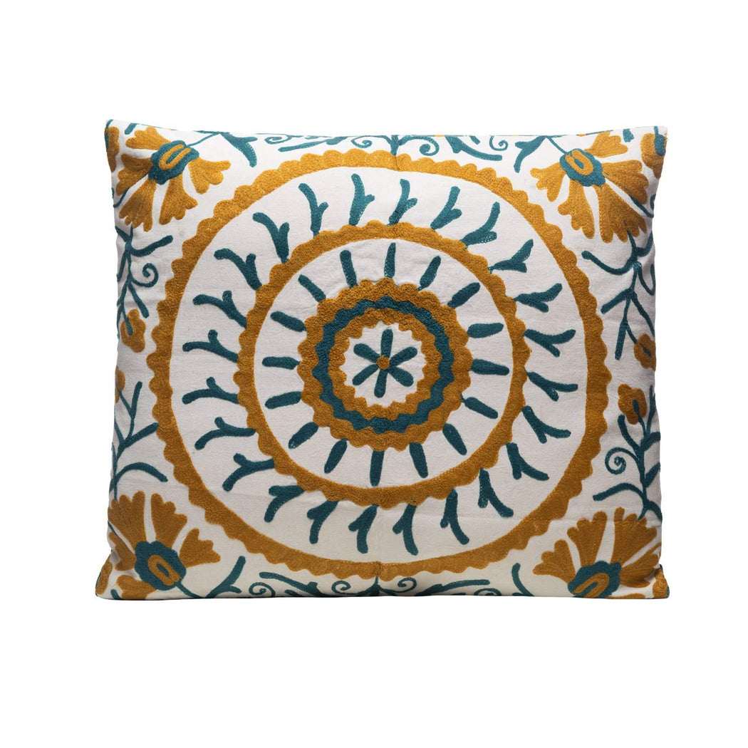 large square suzani cushion