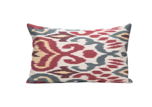 Purple Back Citrus Blood Orange Ikat Cushion