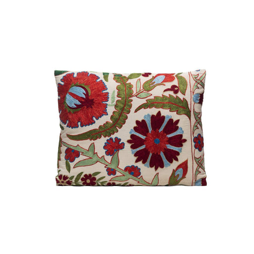Sage Seeds Silk Suzani Cushion Double Sided Ikat