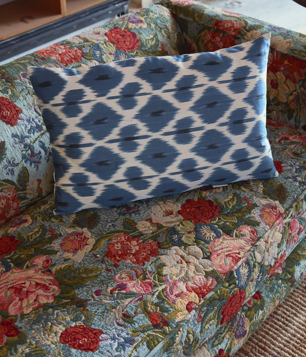 Artemis Amour Double Sided Ikat Cushion - Heritage Geneve