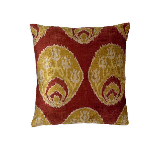Ephesus Velvet Cushion Double Sided Ikat