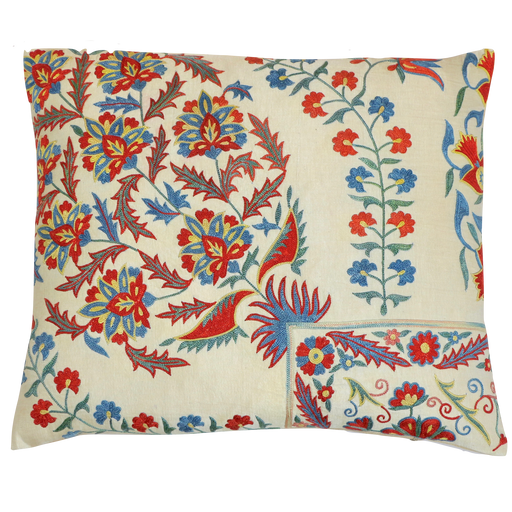 Flower Bucket Silk Suzani Cushion - Heritage Geneve