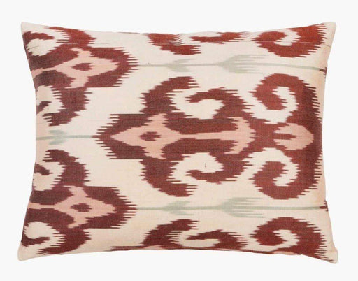 Brown Barn Handcrafted Silk Ikat Cushion - Heritage Geneve