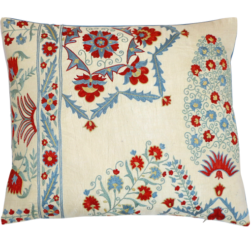 Flower Corner Suzani Cushion